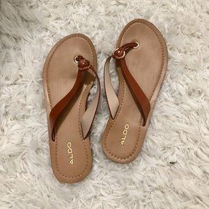 Brown aldo sandals - size 6
